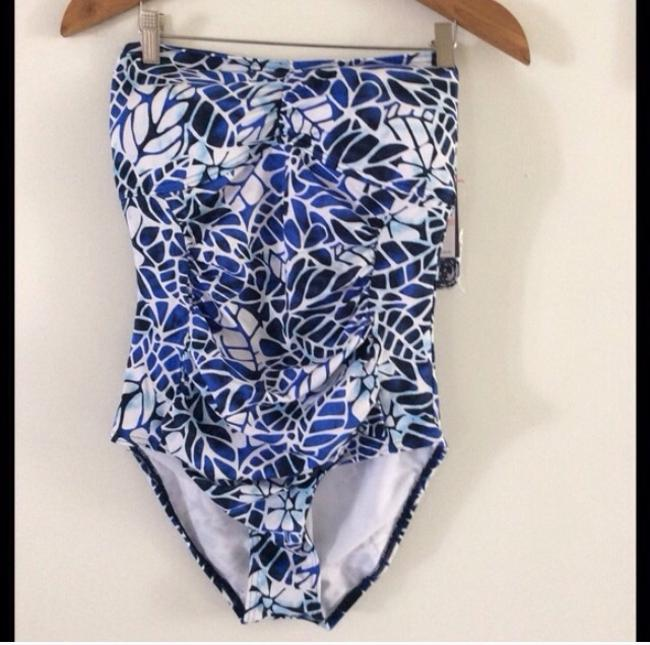 Jag China blue bandeau one piece