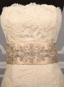 Your Dream Dress Exclusive B519 Beaded Champagne Satin Sash