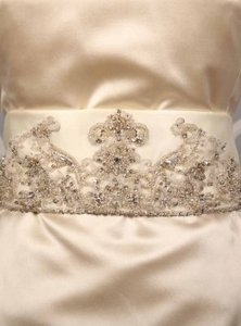 Your Dream Dress Exclusive B517 Ivory Embellished Bridal Sash
