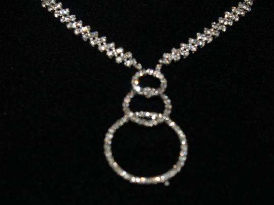Modern Crystals Necklace & Matching Earrings Set R