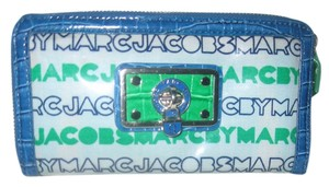 Marc Jacobs Marc By Marc Jacobs Blue/Green Laminated Leather Wallet
