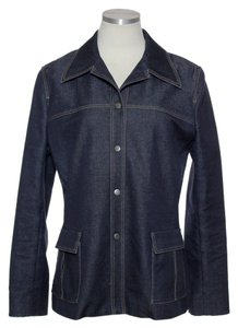 Elie Tahari Stretch Long Sleeve Womens Jean Jacket