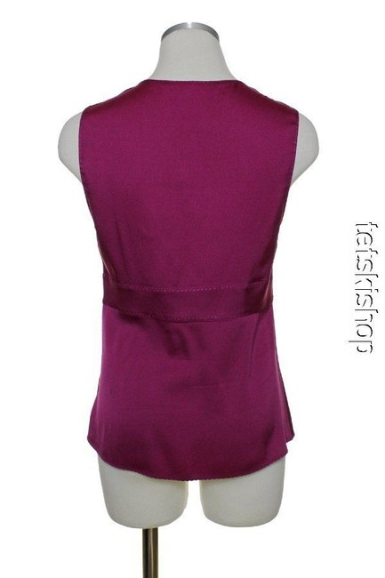 Elie Tahari Stretch Silk Top Purple