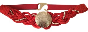 Other Vintage Red Disco Braided Belt