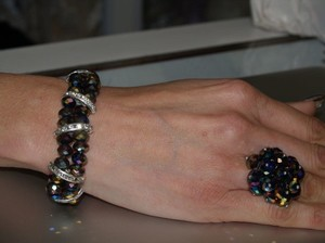 Multicolor Bracelet & Matching Ring Set Rb03
