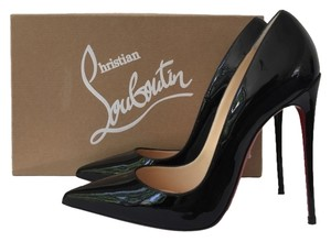 Christian Louboutin So Kate 120mm Pigalle Follies Classic Patent Black Pumps