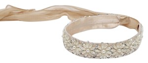 Other Beige Pearl Scarf Headband