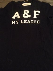 Abercrombie & Fitch T Shirt Navy Blue/white