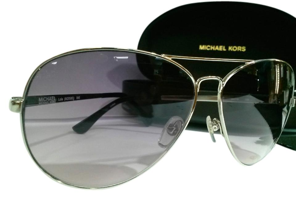 5f7228dc38074 Michael Kors 045-silver Frame with Smoke Gradient Lens Aviator Lola ...