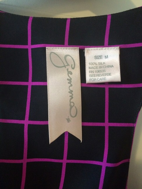 Gemma Top Black and Hot Pink