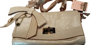 Melie Bianco Pink Bow Satchel in Nude