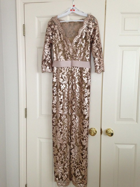 """Item - Multi-color Cotton Nylon Sequins; Stretch Polyester Lining Bhldn """"Macedonia"""" Formal Bridesmaid/Mob Dress Size 6 (S)"""