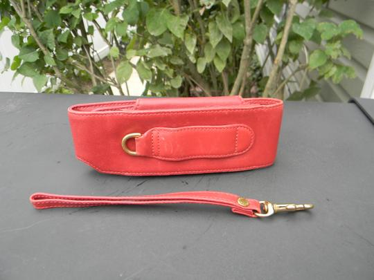Coach vintage red leather coach cell phone wristlet