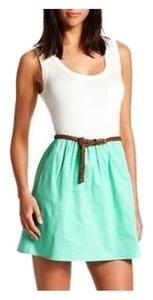 Charlotte Russe short dress Green and White on Tradesy