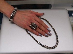 Brown Bracelet and Matching Ring Set Nbr Necklace