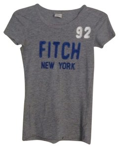 Abercrombie & Fitch Graphic Shirt Casual A&f Logo Comfortable T Shirt Gray