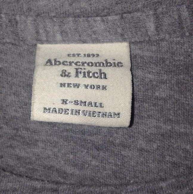 Abercrombie & Fitch Graphic T-shirt Casual A&f Logo Comfortable Fitted T Shirt Gray