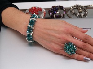 Teal Bracelet & Matching Ring Set Br07