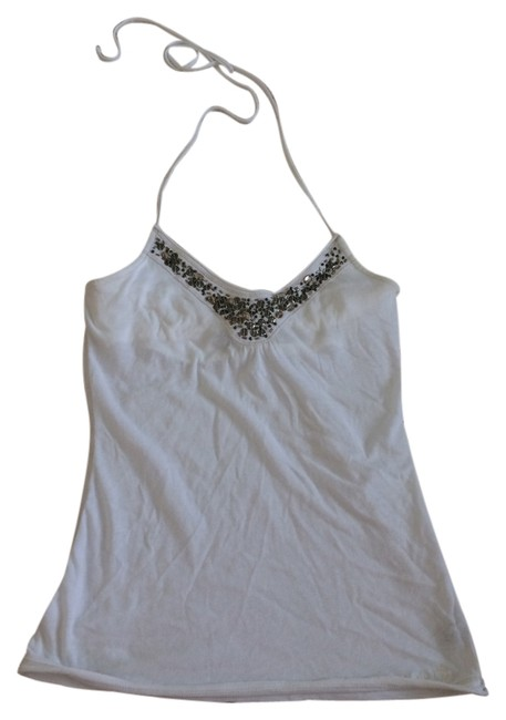Abercrombie & Fitch White Halter Top