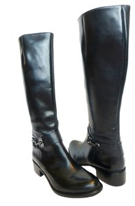 Via Spiga Leather Knee High Equestrian Back Boots