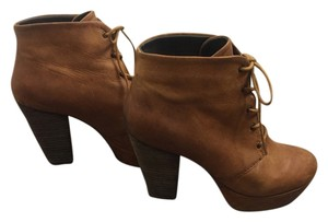 Steve Madden Leather Lace-up Brown Boots