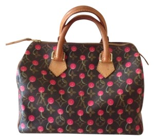 Louis Vuitton Cerises Cherry Speedy Satchel in Brown
