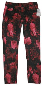 7 For All Mankind Pink Roses Skinny Jeans-Coated