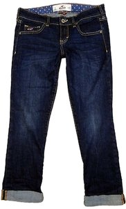 Hollister Capri/Cropped Denim-Dark Rinse