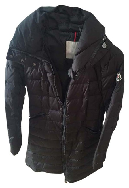 Item - Grey Quilted Mid Length Down Coat Size 4 (S)