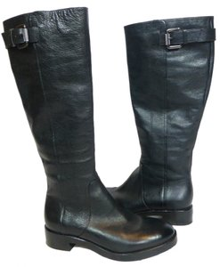 Via Spiga Leather Boot Riding Black Boots