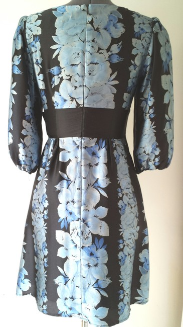 Nanette Lepore short dress Blue Size 4 Silk on Tradesy
