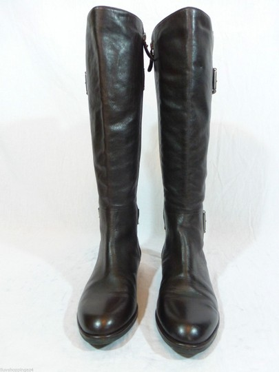 Via Spiga Leather Riding Brown Boots