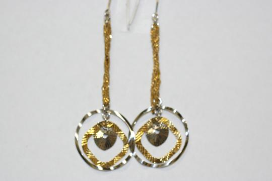 Other Italain Two Tone Gold Earrings