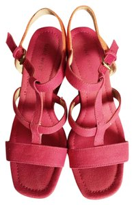 Nine West Pink/light orange combination Wedges