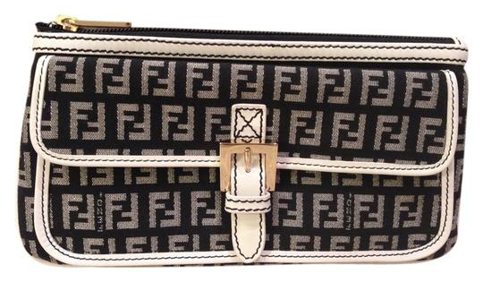 Preload https://item2.tradesy.com/images/fendi-black-logo-with-white-leather-trim-soft-clutch-wallet-4698136-0-0.jpg?width=440&height=440