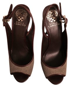 Vince Camuto Brown/Black Platforms