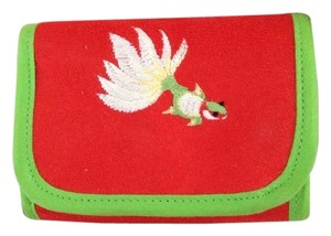 Other Red Embroidered Wallet