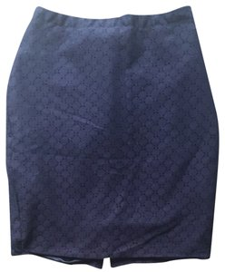 The Limited Eyelet Summer Workwear Suiting Skirt Dark Navy