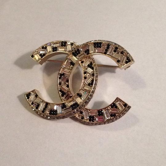 Chanel New with Tag Chanel swarovski crystal gold tone pin brooch