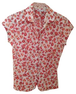 Ben Sherman Button Down Shirt Red floral