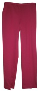 Alfred Dunner Womens Rose Hot Straight Stretch Size 8 Petite Pants