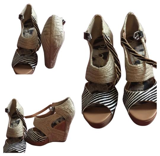Sam Edelman Black & white Wedges