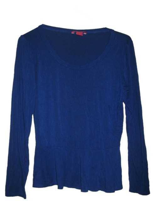 Preload https://item5.tradesy.com/images/sunny-leigh-blue-womens-royal-peplum-long-sleeve-soft-stretchy-shirt-large-blouse-size-12-l-4698739-0-0.jpg?width=400&height=650