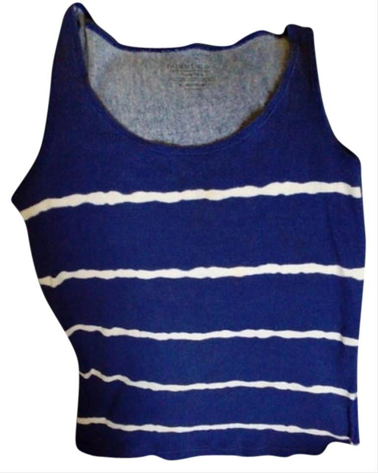 3e5c3a05926 Faded Glory Blue with White Comfortable Activewear Top Size 18 (XL ...