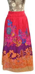 Bohemian Skirt fuschia multi
