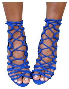 Zara Royal High Heels Blue Sandals