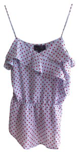 Patterson J. Kincaid Dot Top blue with red polka dots