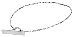 Gucci Gucci 18K White Toggle Bar Chain 6 5/8