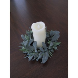 Joann's Fabric Green Candle Rings Reception Decoration
