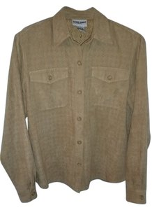Alfred Dunner Button Down Shirt Tan
